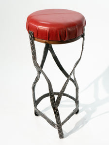 Eric Blanpied Furniture - X Stool, Steel / Leather / Walnut