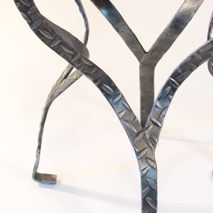 Eric Blanpied Furniture - X Table, Curly Cherry & Steel - Metal Detail