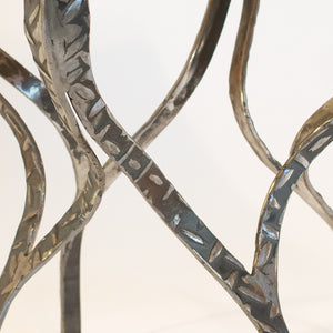 Eric Blanpied Furniture - X Table, Maple & Steel - Metal Detail