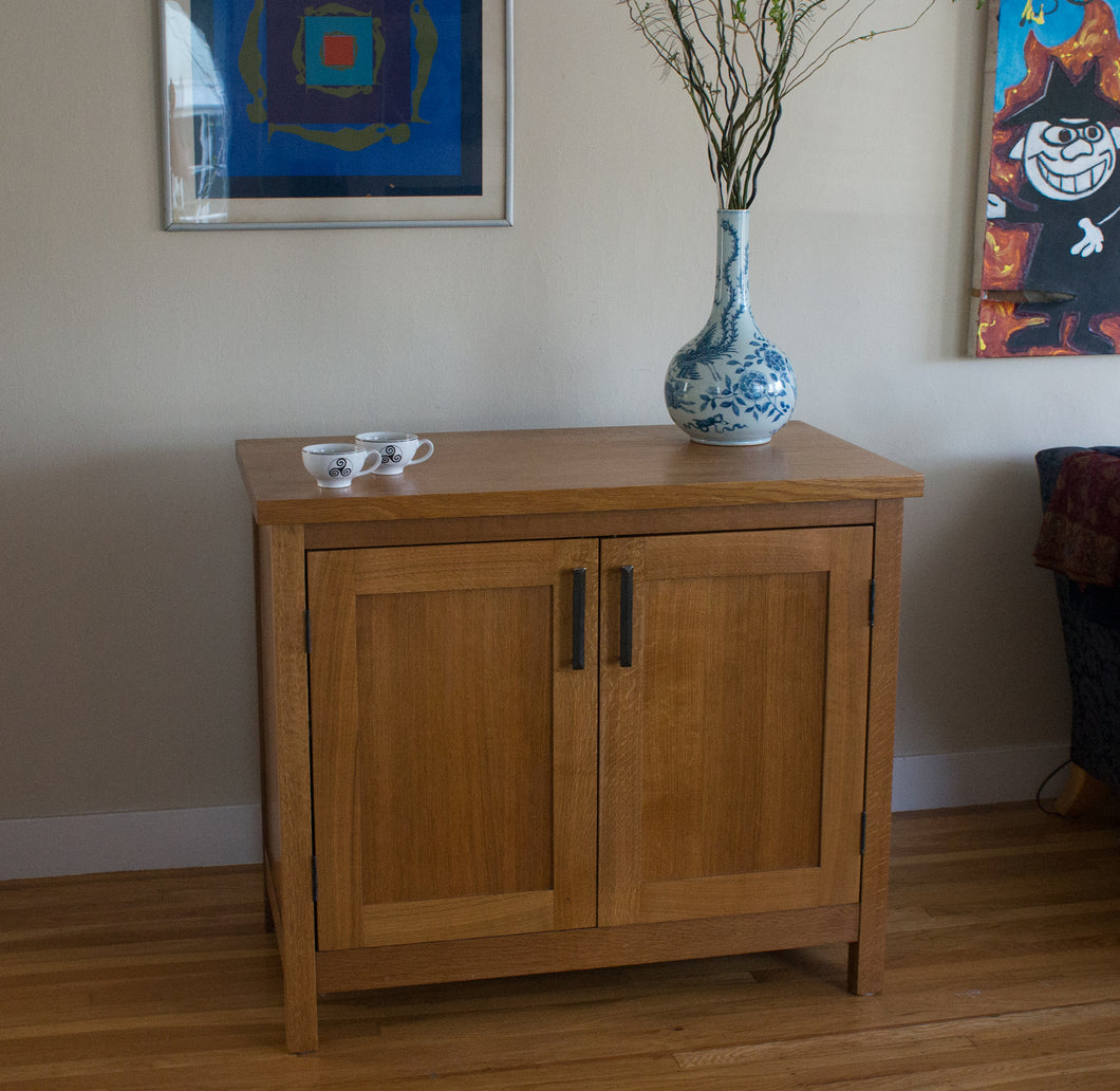 Eric Blanpied Furniture - Mission Cabinet, Fumed White Oak