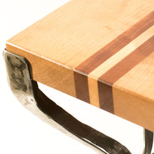 Eric Blanpied Furniture - X Table, Maple, Cherry & Steel, Wood Detail