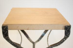Eric Blanpied Furniture - X Table, Maple & Steel - Detail