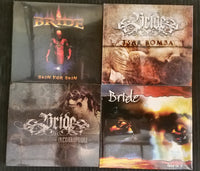 LOT OF 4 BRIDE CD BUNDLE - THIS IS IT + INCORRUPTIBLE + SKIN FOR SKIN + TSAR BOMBA