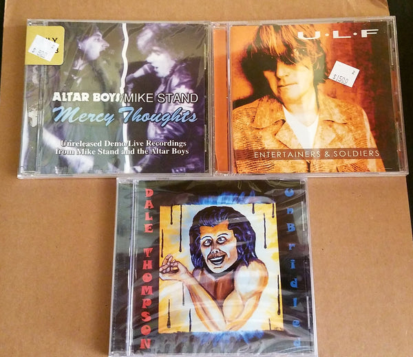 LOT OF 3 CD BUNDLE ROCK/METAL LEGENDS BRIDE/DALE THOMPSON + ULF + MIKE STAND