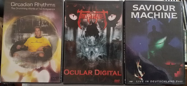 3 DVD Bundle Christian Metal Savior Machine + Tourniquet