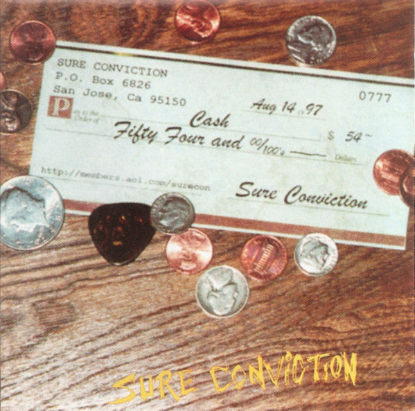 SURE CONVICTION - 54 & CHANGE (*Used-CD, 1997, Indie) AOR Classic Rock ala Petra!