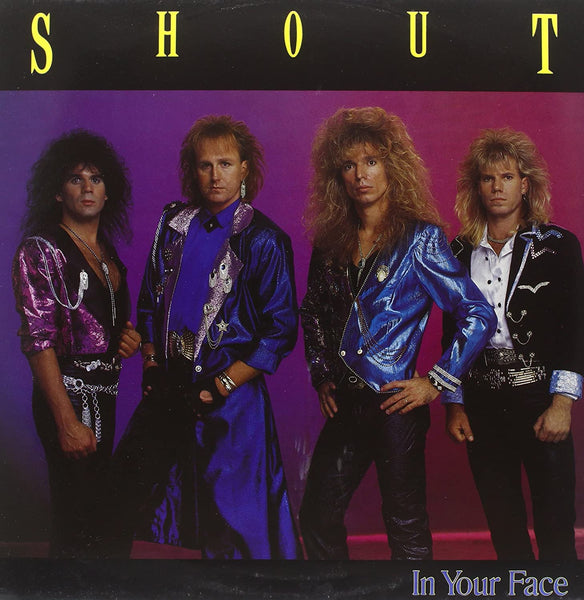 SHOUT - IN YOUR FACE (*NEW-VINYL, 1989, Music For the Nations) Lanny Cordolla, Marty Friedman, Ken Tamplin