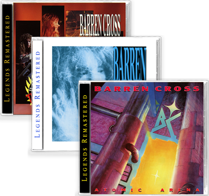 BARREN CROSS 3-CD BUNDLE ATOMIC ARENA + STATE OF CONTROL + HOTTER THAN HELL! LIVE