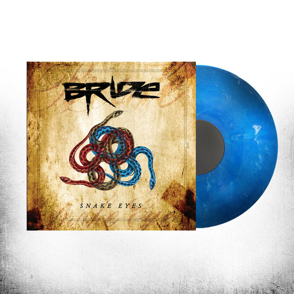 BRIDE - SNAKE EYES (*NEW Dinged Jacket -VINYL Marbled Blue, 2018, Retroactive Records)