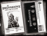 DELIVERANCE - GREETING OF DEATH (*NEW-CASSETTE, 2019, Retroactive) Limited Edition 100 Copies