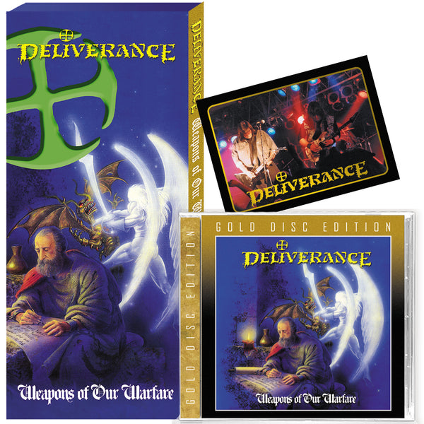 DELIVERANCE - WEAPONS OF OUR WARFARE + 8 Bonus + TRADING CARD (*NEW-CD, CLASSIC LONG BOX - GOLD DISC EDITION, Retroactive Records) ****PRE-ORDER