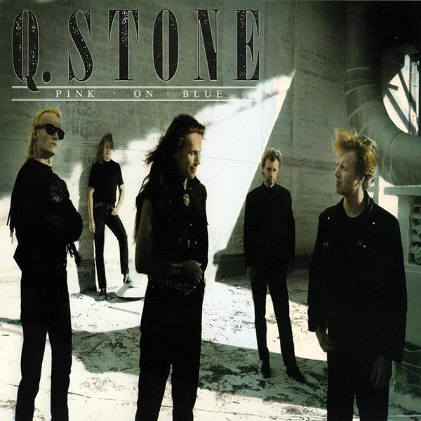 Q-STONE - PINK ON BLUE (*CD, 1990, Royal Music) Christian blues rock import