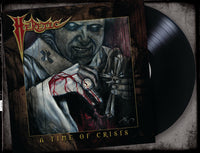 HERETIC - A TIME OF CRISIS (*NEW-VINYL, 2019, Brutal Planet Records) Featuring members of Reverend/Metal Church & Glenn Rogers of Deliverance/Vengeance fame!)