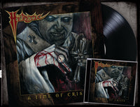 HERETIC - A TIME OF CRISIS (*NEW-CD + VINYL BUNDLE, 2019, Brutal Planet Records) Featuring members of Reverend/Metal Church & Glenn Rogers of Deliverance/Vengeance fame!)