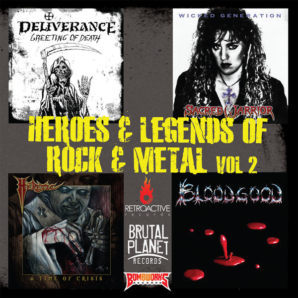 VARIOUS - HEROES & LEGENDS OF ROCK & METAL VOLUME 2 (*NEW-CD, 2019, Boone's Overstock Sampler)