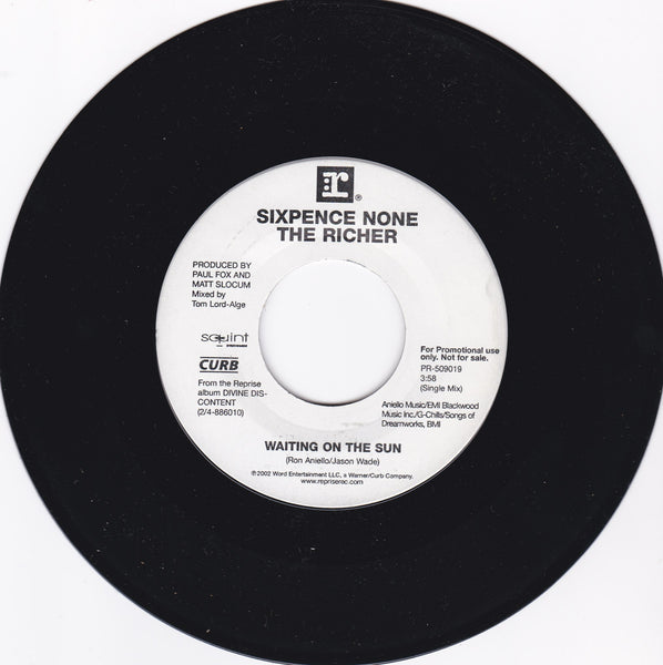 "SIXPENCE NONE THE RICHER - BREATHE YOUR NAME / WAITING ON THE SUN (**Vinyl 7"" Single)"