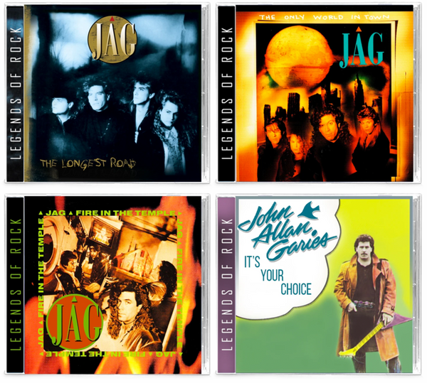 JAG (4-CD BUNDLE) Longest Road, The Only World In Town, Fire In the Temple, It's Your Choice ***PRE-ORDER
