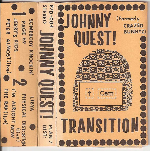 JOHNNY QUEST - TRANSITION (*DEMO TAPE, 1986) Christian alt rock (Crazed Bunnyz fame)