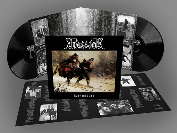 ANTESTOR - KONGSBLOD (*NEW-BLACK 2-LP VINYL, 2019, Nordic Mission) Gatefold Black Metal Norwegian Import