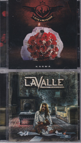 LOT OF 4 METAL AXEMEN SHREDDERS CDs - LIVESAY + REX CARROLL BAND + LOVE & REVENGE + LaVALLE Bundle