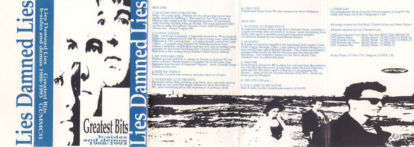 LIES DAMNED LIES - GREATEST BITS: B-SIDES AND DEMOS 88-93 (*Demo Tape)