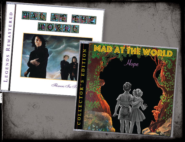 2-CD MAD AT THE WORLD BUNDLE: HOPE + FLOWERS IN THE RAIN (2019, Retroactive Records)