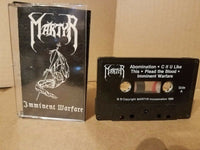 MARTYR - IMMINENT WARFARE (*Used-TAPE, 1988) Betrayal Xian Metal Demo Custom