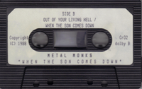 METAL MONKS-WHEN THE SON COMES DOWN 1988 XIAN METAL DEMO TAPE (Rez Band Produced)