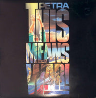 PETRA - THIS MEANS WAR (*Used-Vinyl, 1987, Star Song)