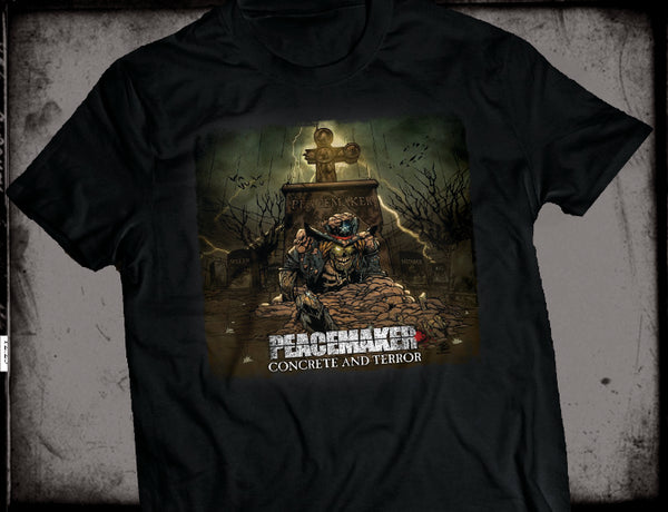 *T-SHIRT - PEACEMAKER - CONCRETE & TERROR (2018, Brutal Planet Records) ****PRE-ORDER