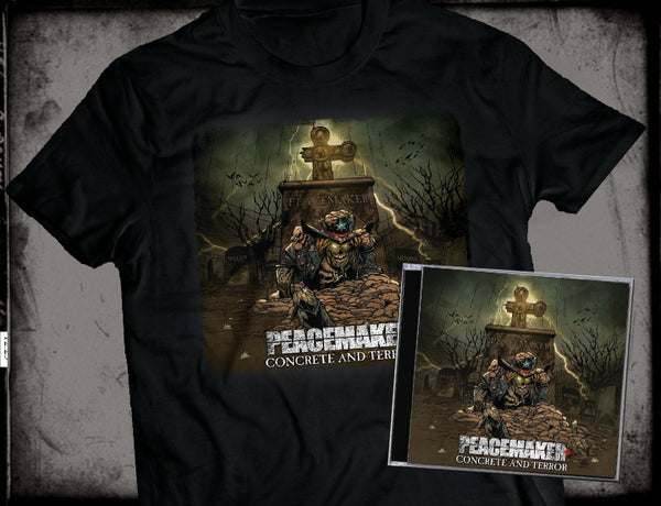 PEACEMAKER - CONCRETE & TERROR (*NEW-CD + SHIRT BUNDLE, 2018, Brutal Planet Records) ****PRE-ORDER