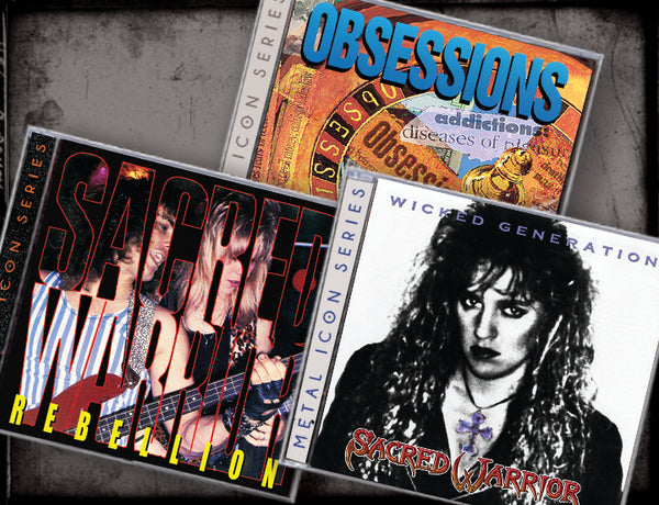3 CD BUNDLE - SACRED WARRIOR (2019, Retroactive Records) REBELLION/WICKED GENERATION/OBSESSIONS