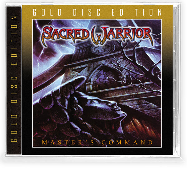 SACRED WARRIOR - MASTER'S COMMAND + Trading Card (Gold Disc Edition CD, 2020, Retroactive) Jewel Case 2020 Remaster