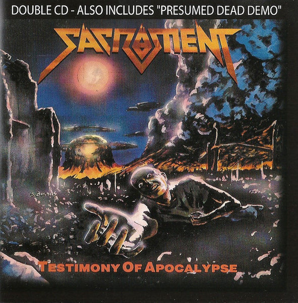 SACRAMENT - TESTIMONY OF APOCALYPSE + PRESUMED DEAD DEMO (*Pre-Owned CD, 2005, Retroactive Records)