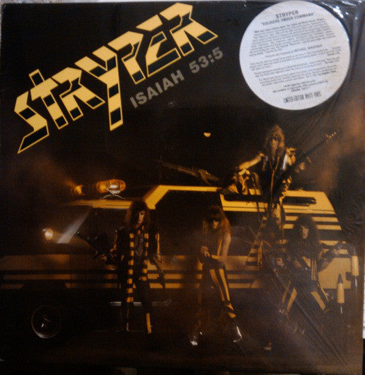 STRYPER - SOLDIERS UNDER COMMAND (*Pre-Owned-WHITE VINYL, 1985, Enigma) w hype sticker and lyrics/merch insert
