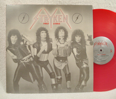STRYKEN - FIRST STRIKE (*Used-Vinyl, 1987, Chrystal Records)