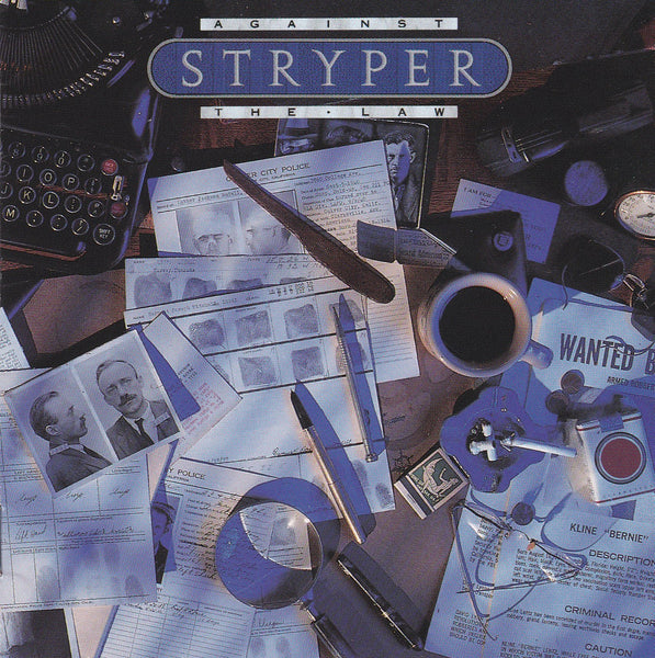 STRYPER - AGAINST THE LAW (*CD, 1990, Enigma Records) with RARE FULL COLOR DISC FACE