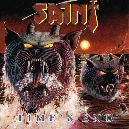 SAINT - TIMES END (*Pre-Owned-CD, 1986, Pure Metal Records) Like New!