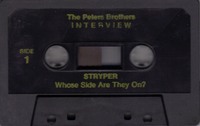 The Peters Brothers Interview Stryper: Whose Side are They On? 1987 *TAPE