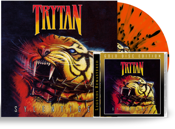 TRYTAN - SYLENTIGER BUNDLE GOLD DISC CD + Splatter Color Vinyl, 2020, Retroactive Limited 200 Units