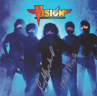 VISION - VISION (25th ANNIVERSARY EDITION) (*AUTOGRAPHED CD, 2010, Born Twice Records) ***Two Signatures