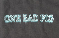ONE BAD PIG - WARNING *** T-SHIRT