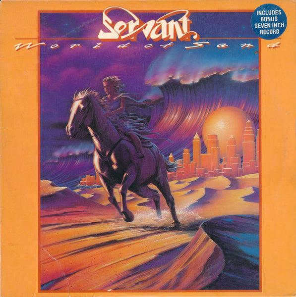 "SERVANT - WORLD OF SAND LP + 7"" (Vinyl, 1982, Roof Top)"