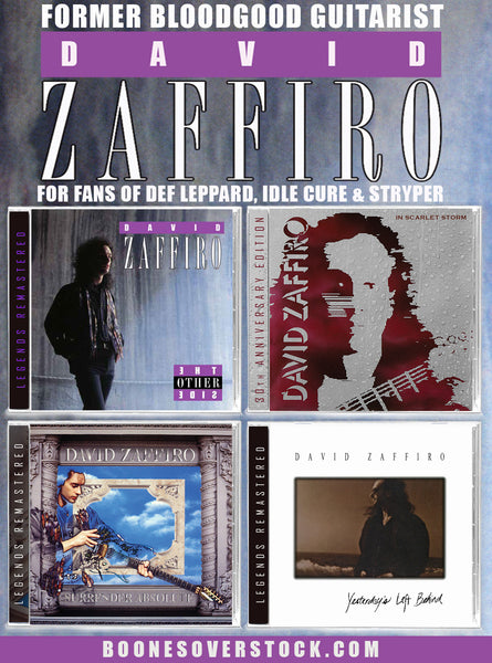 DAVID ZAFFIRO 4-CD BUNDLE (Other Side + Scarlet Storm + Surrender Absolute + Yesterday's Left...) 2020 Remasters from Bloodgood Guitarist!