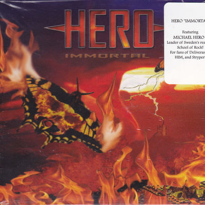 HERO - IMMORTAL (Swedish metal) (CD, 2009, Retroactive Records)