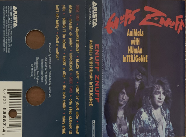 Enuff Z'nuff ‎– Animals With Human Intelligence (*NEW-TAPE, 1993, Arista)