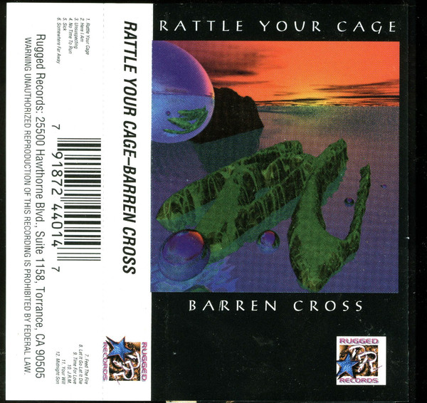 Barren Cross ‎– Rattle Your Cage (*Pre-Owned TAPE, 1994, Rugged Records)