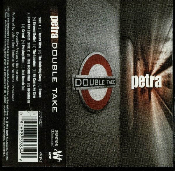 Petra ‎– Double Take (*NEW-TAPE, 2000, Word) Classic Petra re-recorded + 2 NEW Tracks
