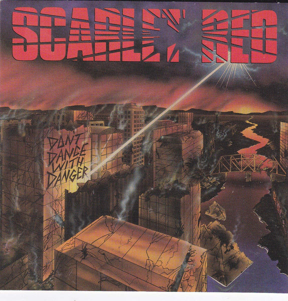 SCARLET RED - DON'T DANCE WITH DANGER (*NEW-VINYL, 1989, Pure Metal) Sealed Hair AOR