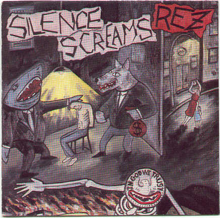 REZ - SILENCE SCREAMS (*Used-VINYL, 1988, Ocean Records) Mint